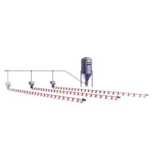 systeme ligne d'alimentation tubulaire avec trémis et silo
